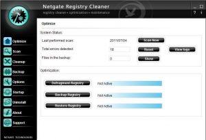 NETGATE Registry Cleaner Registered Key